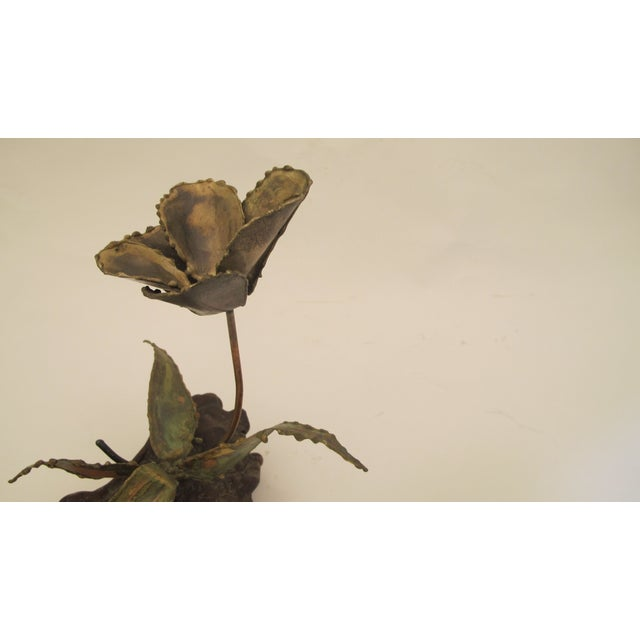 1960s Curtis Jere Style Metal Flower Sculpture - Image 3 of 5