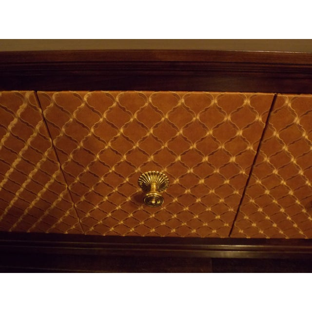 Mid-Century Styles Fabric Panel Buffet - Image 5 of 8