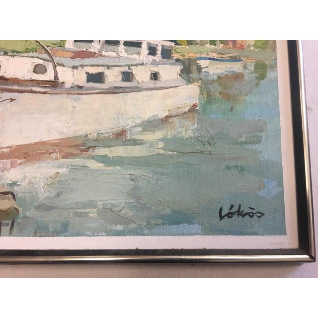 Stefan Lokos Boat At the Marina Painting - Image 4 of 11
