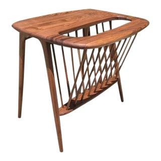 Rare Arthur Umanoff walnut magazine side table