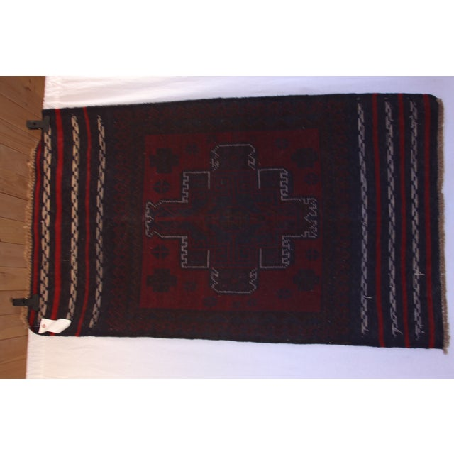Handknotted Wool Balouch Persian Rug - 2′8″ × 4′7″ - Image 10 of 11