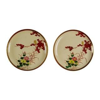Japanese Satsuma Plates - Pair
