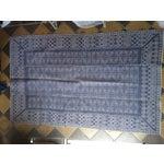 Image of Hand Embroidered Indigo Tribal Rug - 2′6″ × 5′