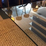 Image of Contemporary Chrome and Glass Coffee Table