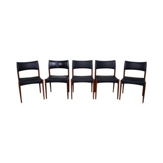 Johannes Anderson Danish Modern Teak Dining Chairs - Set of 5