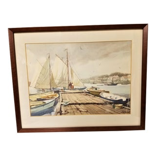 Gordon Hope Grant Original Maritime Watercolor Painting