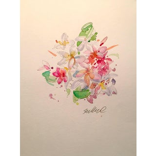 Tropical Floral Watercolor Painting