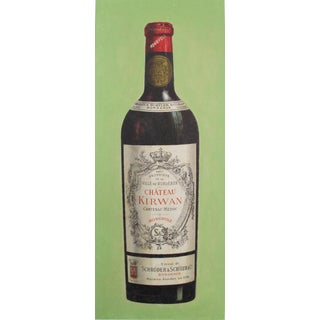 1900s French Vintage Wine Carton, Chateau Kirwan