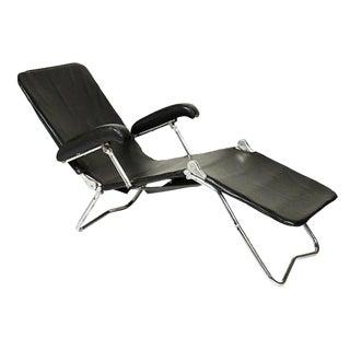 Circa 1940 Folding Adjustable Lounge Chair