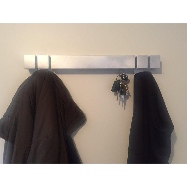 Image of Modern Aluminum Wall Coat Rack & Magnetic Key Rack