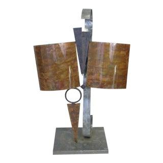 Modern Brutalist Metal Statue