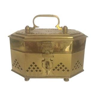 Brass Trinket Box with Handle