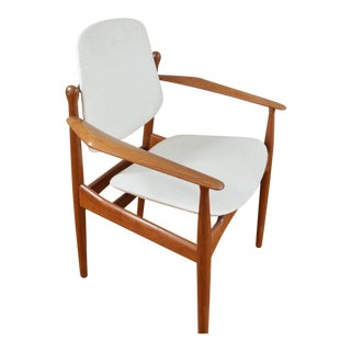 Arne Vodder for France & Daverkosen Danish Teak Arm Chair with Pivot Back