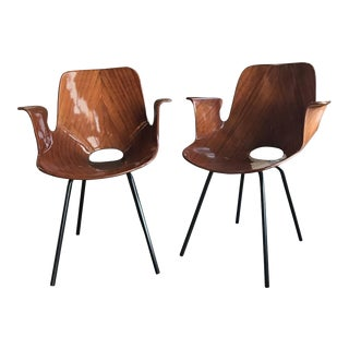 Two Signed Medea Armchairs by Vittorio Nobili