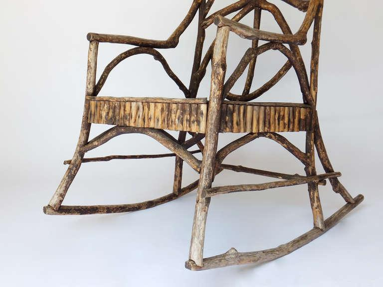 Beautiful Antique Twig Rocker   Image 4 Of 8