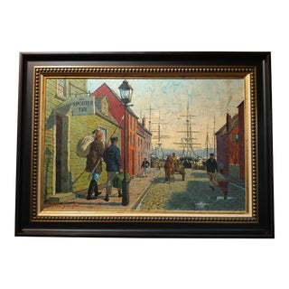 New Bedford Waterfront Oil Painting