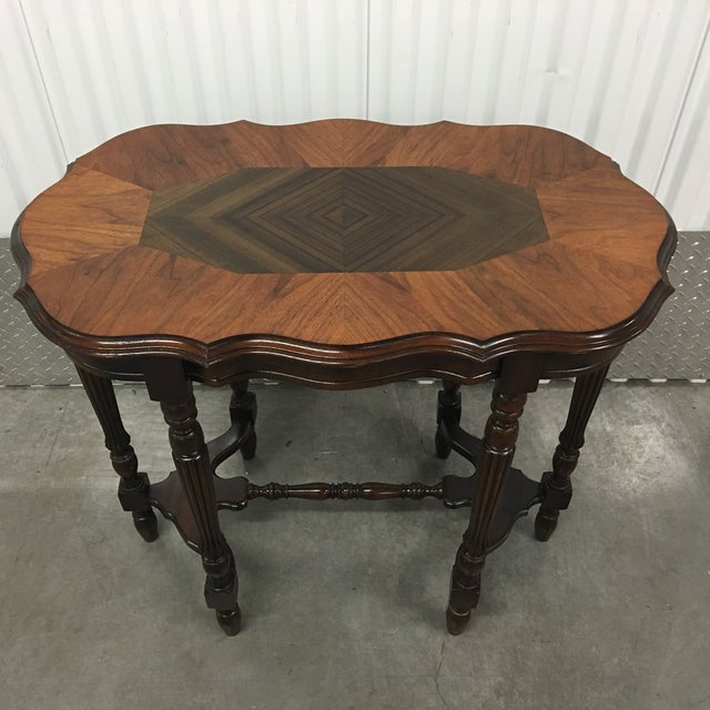 Image of Inlaid Spindle Leg Table
