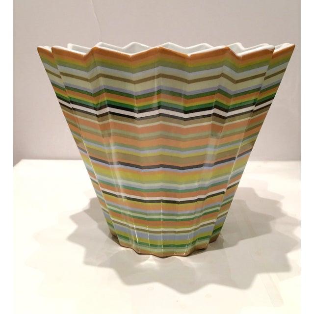 Fabienne Jouvin Paris Chevron Decorative Bowl - Image 2 of 6