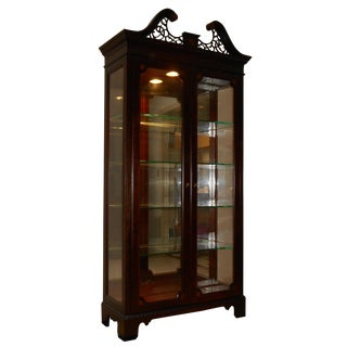 Chippendale Style Curio Cabinet