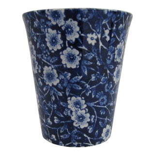 English Blue & White Chintz Pencil Cup