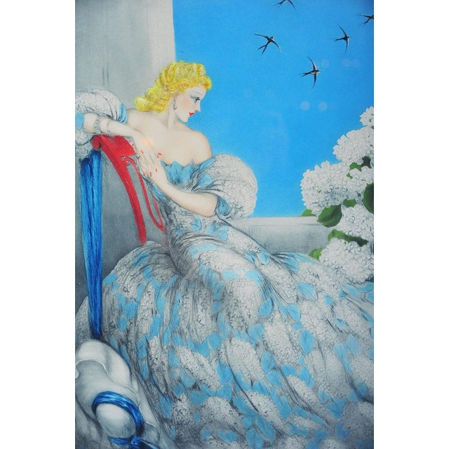 """""""Symphony in Blue"""" Etching by Louis Icart - Image 3 of 9"""