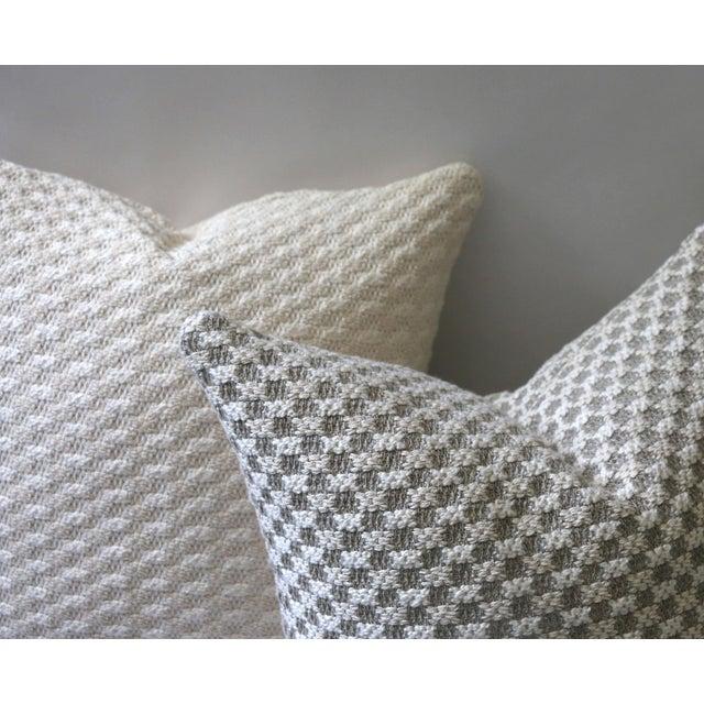 Throw Pillow Zipper : Sweater Knit Thick Cream Decorative Throw Zipper Pillow Cover Chairish
