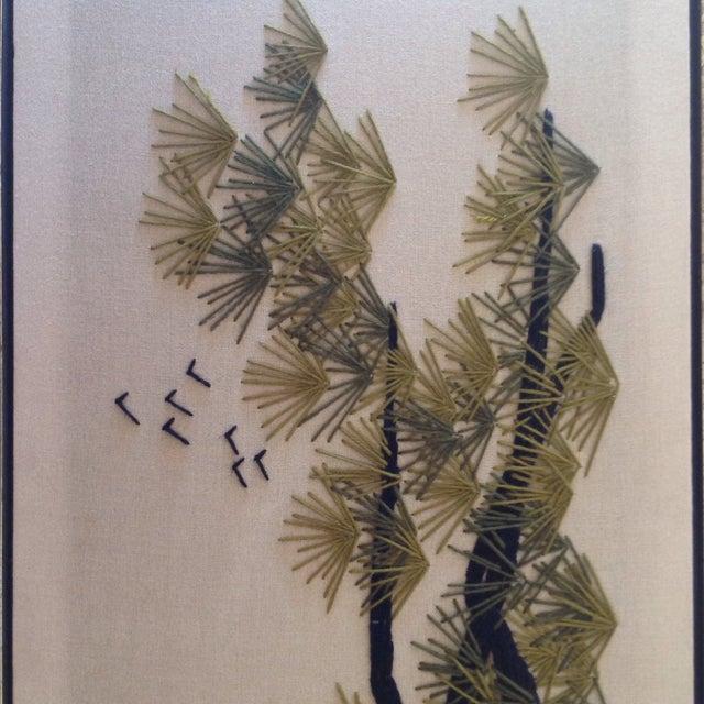 Image of Mid-Century Ming Crewel Artwork