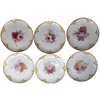 KPM Porcelain Floral Plates - Set of 9
