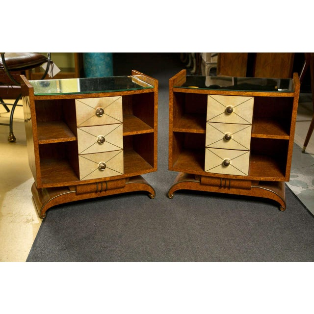 Art Deco Style Nighstands Tables - A Pair - Image 2 of 9