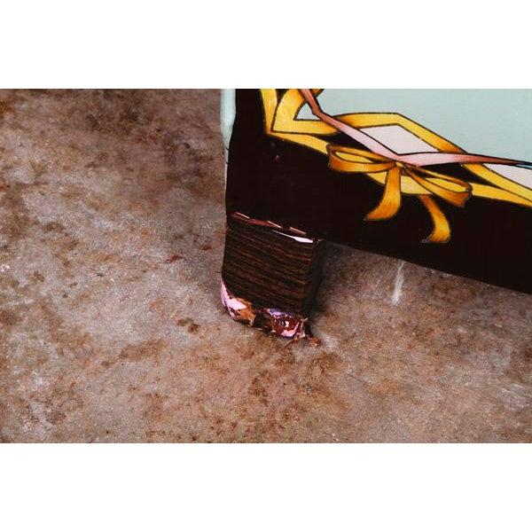 Roberto Cavalli Custom Upholstered Silk Loveseat - Image 8 of 9