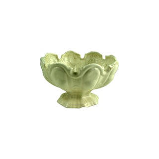 Vintage Faience Footed Bowl