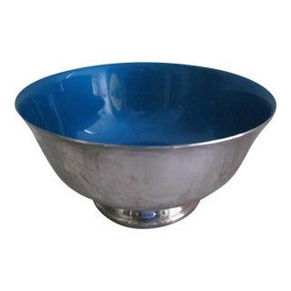 Reed & Barton Blue Enameled Revere Bowl