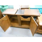 Image of Mid-Century Hickory Furniture Co. Rolling Buffet Server