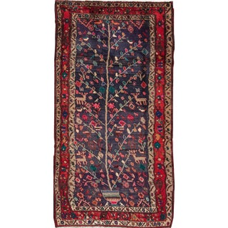 "Apadana Vintage Tree of Life Persian Rug - 4'3"" X 8'3"""