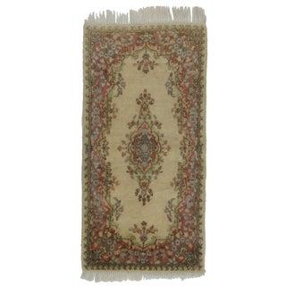 Persian Kerman Hand Knotted Wool Rug - 2′ × 4′