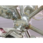Image of Italian Modern Art Glass & Chrome Chandelier