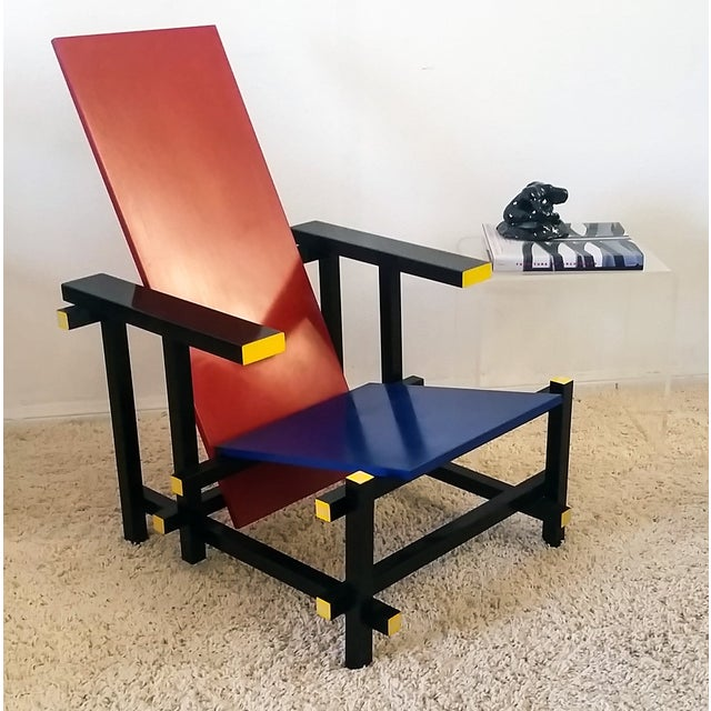 Red & Blue Chair After Gerrit Rietveld - Image 2 of 5