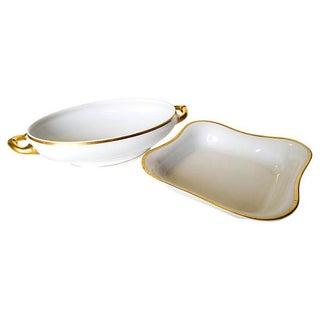 Gilded Edge Serving Bowls- Set of 2