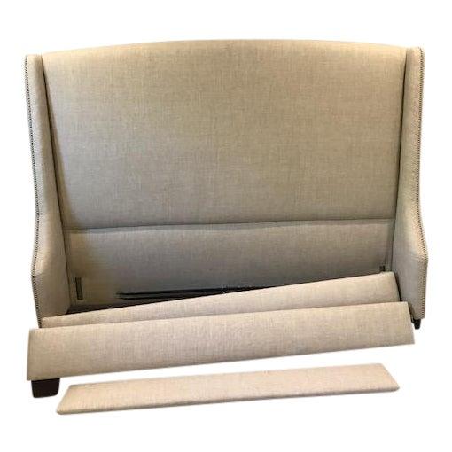 Restoration Hardware Warner Nailhead Upholstered King Bed - Image 1 of 3