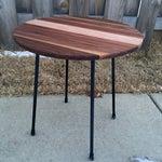 Image of Handmade Modernist Iron & Wood Side Table