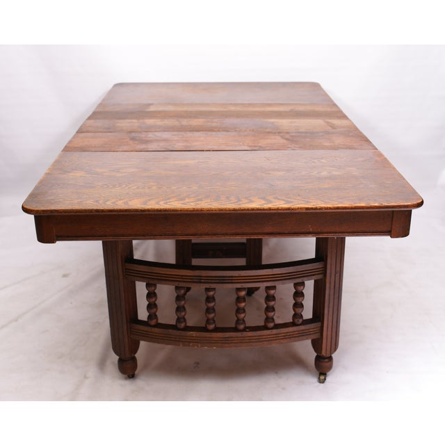 Antique Stick & Ball Dining Table - Image 6 of 7
