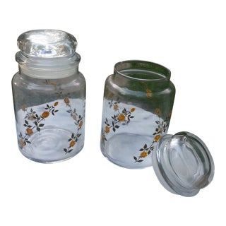 Yellow Rose of Texas Canisters - a Pair