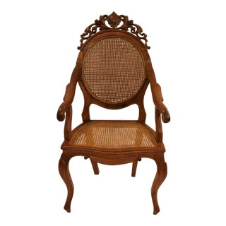 Vintage Carved Accent Chair