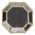 Giltwood Faux Bamboo Octagonal Mirror