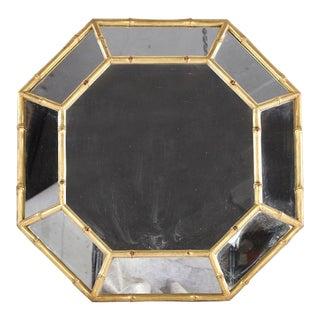 Giltwood Faux Bamboo Octagonal Mirror