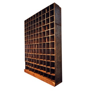 Rustic Mail Cubby Shelving Unit