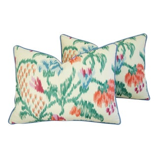 Custom Brunschwig & Fils Marly Pillows - A Pair