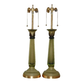 Marbro Murano Column Lamps by Cenedese