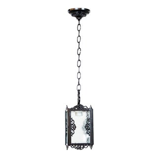 Small Black Square Iron Lantern