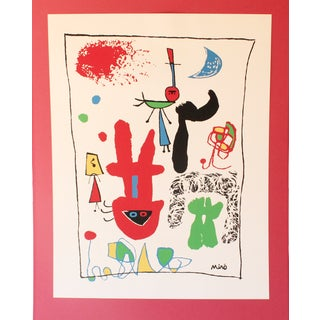 """Acrobats in the Night Garden"" Print by Joan Miro"